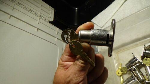 One HUDSON CABINET PLUNGER LOCK w/2 KEYS USED
