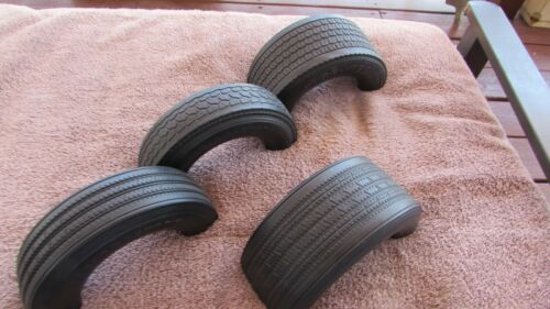 VINTAGE SET OF 4 SMALL BRIDGESTONE TRUCK TIRES POINT OF PURCHASE TIRE DISPLAYS