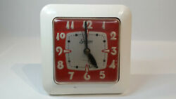 Vintage Sessions Wall Clock Electric Retro Red Tested Works