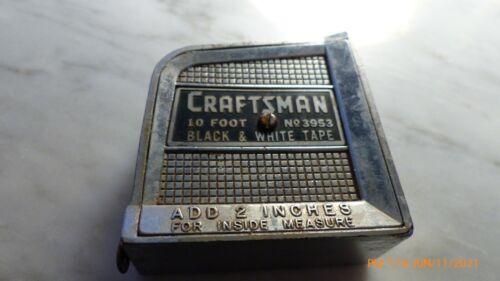 Craftsman Tape Measure Number 3953 Black and White 10 Foot Tape Vintage Antique