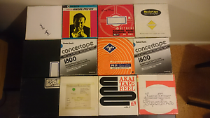 Bulk Reel to reel tapes approx 25 plus some empty spools Deakin South Canberra Preview