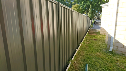 Colorbond fencing installed 1800mm std for $70perM