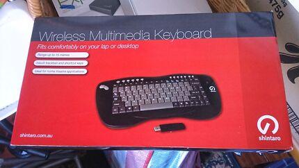 Shintaro wireless multimedia keyboard  Brand new in box  Mount Gambier Grant Area Preview