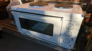 Omega white multi mini bench top oven and 2 plate cooktop Auburn Auburn Area Preview