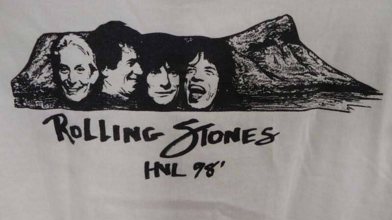 Rolling Stones T-Shirt XL White RARE Hawaii