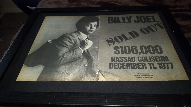 Billy Joel Rare Original Nassau Coliseum 1977 Concert Promo Poster Ad Framed!