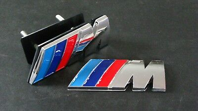 M SPORT FRONT GRILL AND BOOT BADGE SET For BMW 1 3 4 5 6 7 X Series
