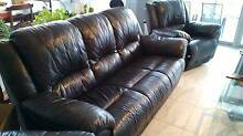 Leather Lounge suit: 3 Seater and Recliner Varsity Lakes Gold Coast South Preview