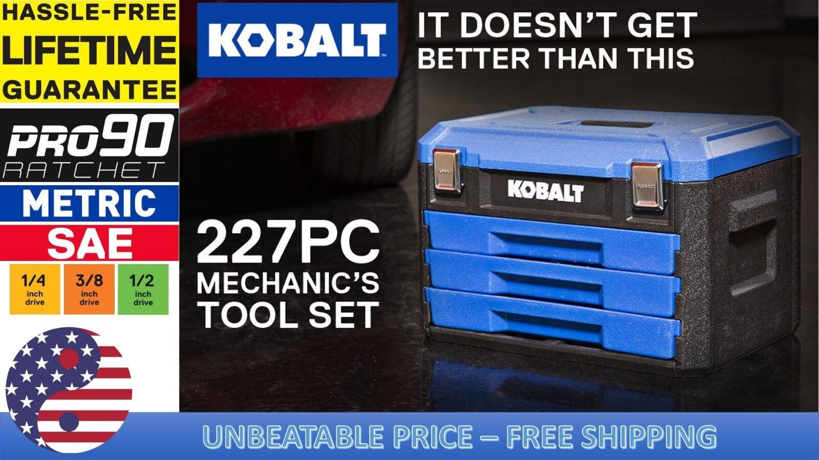 Kobalt 227-Piece Standard  and Metric Polished Chrome Mechan