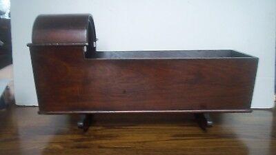 """Vintage Hand Made Wood Rocking Doll Cradle 19"""""""