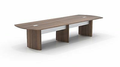12ft Stylish Modern Office Conference Table With Brown Sugar Laminate Finish