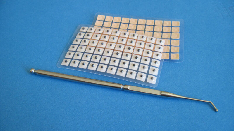 Professional Stainless Steel Probe,Acupuncture Ear Seeds120 pcs & Ear Chart (US)