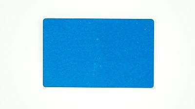 New Blue Blank Metal Business Cards 100pcs Laser Engrave Thick New