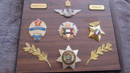 VERY COOL COLLECTION OF OBSOLETE ENSENADA, B.C. MEXICO POLICE BADGES