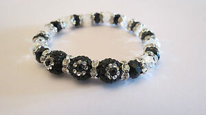 SHAMBALLA STYLE 3PCS  X 1OMM  CRYSTAL CLAY BEADS STRETCH BRACELETS