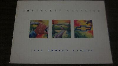 1993 FACTORY ORIGINAL SURVIVOR CHEVROLET CAVALIER OWNERS MANUAL COMPLETE Chevrolet Cavalier Owners Manual