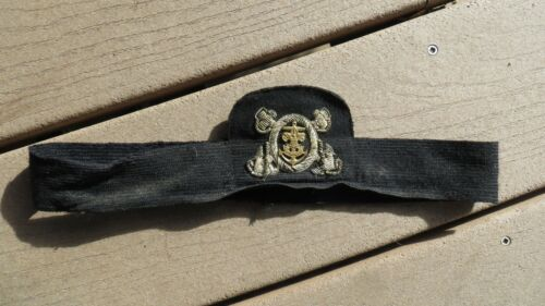 Boy Scouts of America Sea Scouts Bullion Hat Cap Badge w/ Band