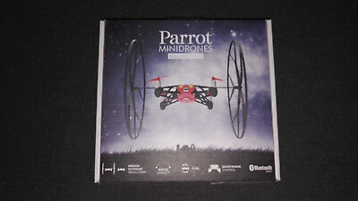 parrot mini drone rolling spider rouge