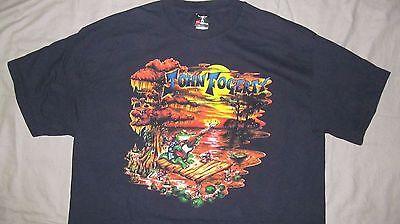 Rare JOHN FOGERTY World Tour 2007 Black T-shirt BETSY BAYTOS design, Men's sz XL