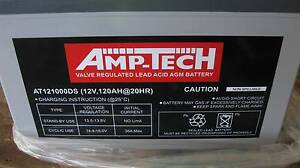 AMP -TECH DEEP CYCLE SEALED BATTERIES AT121000DS 120amp AGM