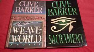 Clive Barker hardback bundle Weaveworld Sacrament Wynn Vale Tea Tree Gully Area Preview