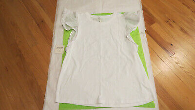 Kate Spade Broome Street Flutter Sleeve Tee White L or XL $75 Authentic New NWT