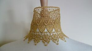 Gold Venise Lace Choker Victorian Necklace Medieval Pagan Steampunk Gothic