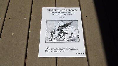 Progress   Purpose Developmental History Of The Marine Corps 1900 1970