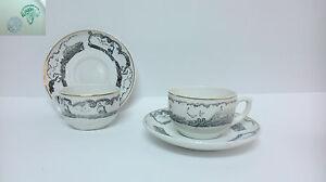 Antiguo juego de cafe te porcelana la asturiana gijon y for Ceramica bellavista