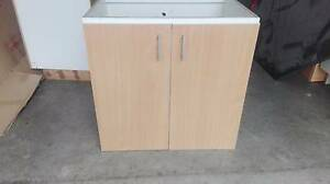 Kitchen/Laundry Floor Cupboard Wood Grain finish doors Laminate Cordeaux Heights Wollongong Area Preview