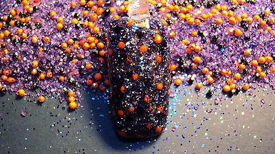 glitter mix acrylic gel nail art      HALLOWEEN MIX         * WITCHY  WOMAN *](Halloween Gel Nail Art)