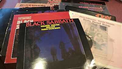 BLACK SABBATH LOT OF 9 LPS CLEAR VINYL EP PARANOID BATS HEAD SOUP OZZY TMOQ