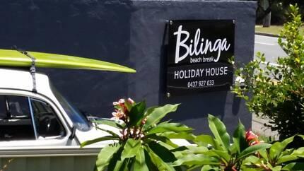 Bilinga Beach Break - laidback holiday feel - sleeps up to 12