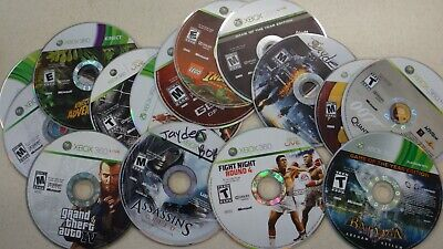 XBOX 360 LOT - 15 Disc only games - GTA 4 - LEGO - COD 4 - Batman - Gears of War