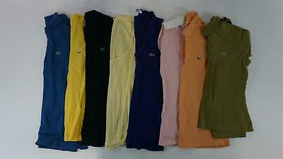LACOSTE Lot of 8 Women's Short Sleeve Cotton Polo/ T-Shirts Sz 36 / US 4, S