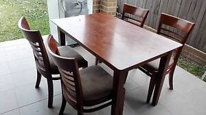 Fantastic Furniture 5 piece Dining Table + 4 Chairs Set Guildford Parramatta Area Preview