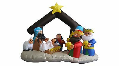 USED Lighted Christmas Inflatable Nativity Scene Indoor Outdoor LED Decoration](Inflatable Decoration)