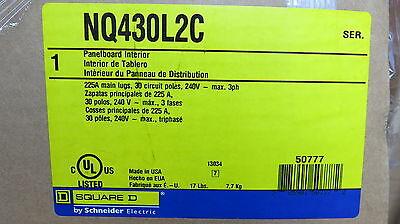 Square D Nq430l2c 225a Main Lug 30 Ckt 3 240 Volt Nq Panelboard- E1230- New