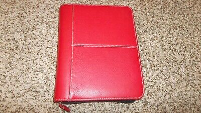 Franklin Covey Red Simulated Leather Classic Planner 7-ring Binder