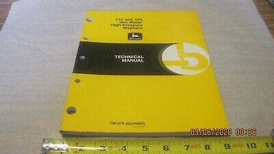John Deere 310320 Hot-water High Pressure Washer Tm1479 Used