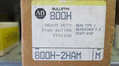 Allen Bradley 800h-2ham Start Stop Push Button Station New