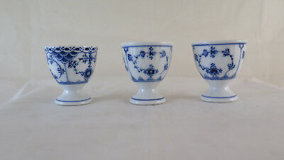 TRE PORTAUOVO IN PORCELLANA ROYAL COPENHAGEN 115 E 542 EGG CUPS DANIMARCA R124