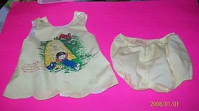 FITS CABBAGE PATCH SOFT SCULPTURE KIDS CLOTHES YELLOW DRESS 12MO