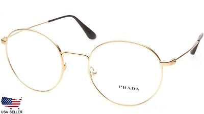 NEW PRADA VPR 64T 1BK-1O1 MATTE GOLD EYEGLASSES GLASSES 50-20-140 B47mm Italy