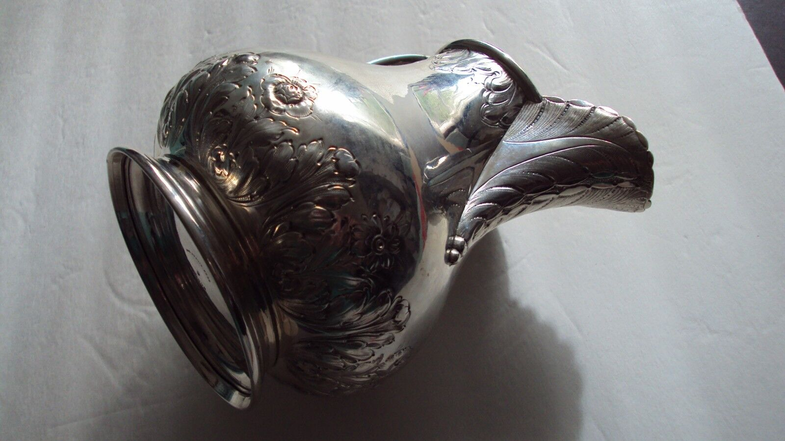 H.B.STANWOOD PURE COIN SILVER AWESOME PITCHER #