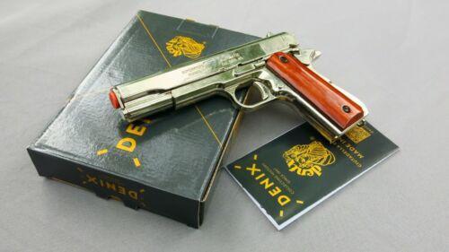 Denix Non-Firing Replica Nickel Finish M1911A1 Colt .45