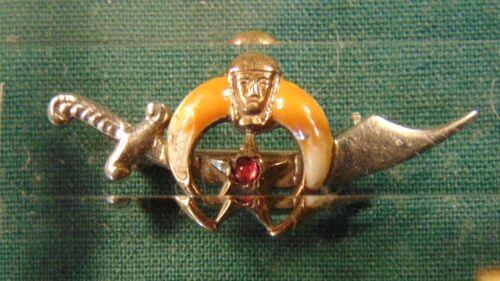 Masonic 10 K dagger and crescent pin