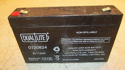 Lot Of 7 - Dual Lite 0120824 Approved 6-volt 7-7.2ah 3.4-amp I4