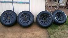 16x7 Black Sunraysia rims and Maxxis tyres Sunbury Hume Area Preview