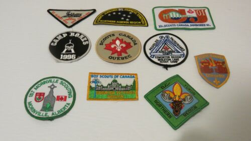 Lot of 10 Scouts Canada Patches Badges